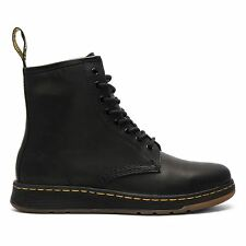Dr. Martens Newton 8 Eye Boot Mens Black Leather Casual Lace up BOOTS Shoes US UK 7