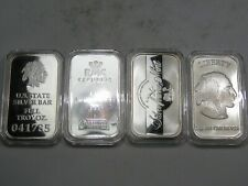 4 Gorgeous Silver Bars In Capsules 1 troy oz 999 Fine silver each. #60
