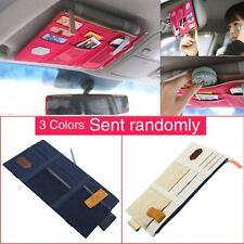 Car Sun Visor Point Pocket Documents Organizer Hanging Bag CD Card Holder