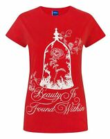 Disney Beauty And The Beast Enchanted Rose Women's Slogan T-Shirt