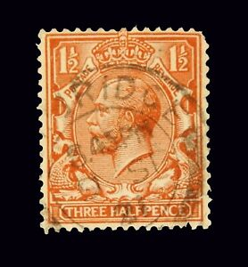 Great Britain / 1912 / King George V / Used / 3 Half Pence /  SC161