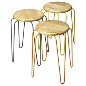 Butler Easton Wood & Iron Stackable Stools, Multi-Color - 4270330