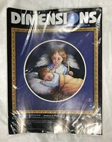 Dimensions Counted Cross Stitch Kit Angelic Guardian Angel Baby Sleeping Vintage