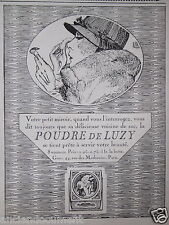 PUBLICITÉ 1919 LA POUDRE DE LUZY PRÊTE A SERVIR VOTRE BEAUTÉ - ADVERTISING
