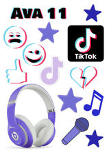 Personalized TIK TOK cake cupcake decoration ICING WAFER edible cake topper A4