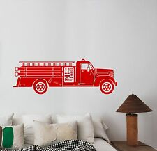 Fire Truck Wall Decal Fire Engine Rescue Vinyl Sticker Car Art Room Decor ft1