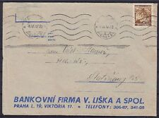 Boemia U. Moravia Mer n. 64 EF ditte lettera con MAS Praga 0.06.1942