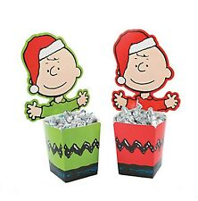 Peanuts Christmas Holiday Candy Buckets Containers (Set of 4) ft. Charlie Brown