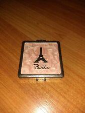Vintage Paris Cosmetic Mirror 2 1/2 Inches Magnetic Closure Undated