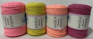 Macrame Braided Cord Cotton - Micro Macrame Jewellery Multipack 4 X 275m / 250g