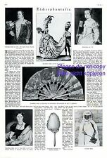 Fan fantasy 1924 XL page German report with 7 images feather fan +