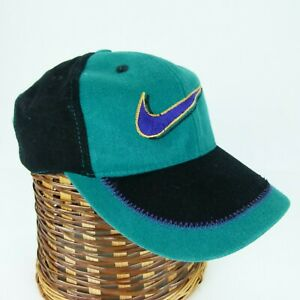 Vintage Nike Snapback Hat W/ Pocket 90's Color Block Youth One Size Fits All