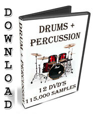 DRUMS + PERCUSSION SAMPLES- PROPELLERHEADS REASON REFILL- 4-5-6-7-8-9-10-11-12