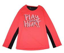 Under Armour Girls Pink & Black Play With Heart Top Size 5