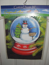 """New listing Snowman Let It Snow Snow Globe Garden Mini Flag 12"""" X 18"""" New in Package"""