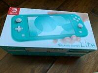 Nintendo Switch Lite Turquoise Edition / Blue _ BRAND NEW In Hands