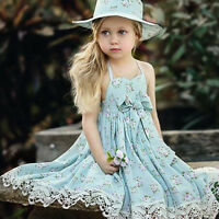 Flower Girl Princess Dress Kids Baby Party Wedding Pageant Tulle Lace Dresses