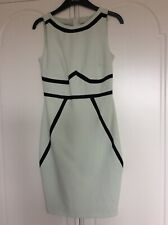 Dorothy Perkins Pale Green & Black Textured Sleeveless Lined Dress size 6