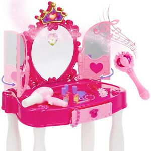 Play Set Girls vanity mirror w/ Magic Wand remote, hairdryer stool, and more