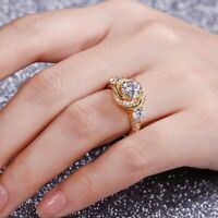 1.80Ct Round Cut Moissanite Twisted Halo Engagement Ring 14K Yellow Gold Finish