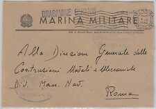 ITALY -  POSTAL HISTORY COVER - Military Marine Ship - FLOWERS : GERANIUM
