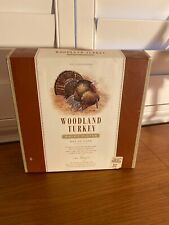 4 WILLIAMS SONOMA WOODLAND TURKEY SALAD PLATES IN BOX