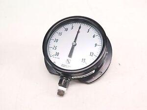 Ashcroft 0-15 PSI 0-30 Vacuum Test Gauge Vintage