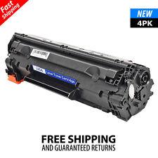 4PK CE285A 85A Black Toner Cartridge for HP LaserJet M1217nfw MFP P1102W