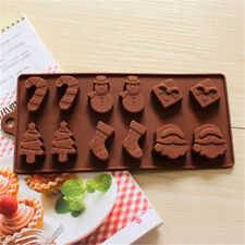 12in1 Christmas Silicone Mold Ice Cube Candy Chocolate Fondant Tray Xmas Moulds