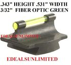 38 Dovetail Front Sight .343 H .531 W 332 Fiber Optic Green Fits Marlin