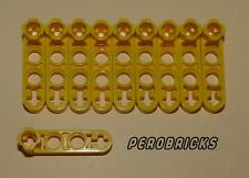 Lego Technik Technic 10 dünne Liftarme 4 Löcher mit Pinloch #2825 gelb