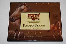 """WILDLIFE MUSTANG HORSE 8"""" X 10"""" PHOTO FRAME HOLDS A  4"""" X 6"""" PHOTOGRAPH"""