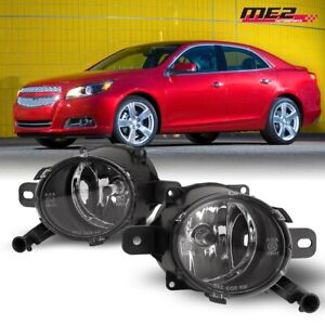 For 2013-2014 Chevy Malibu OE Factory Fit Fog Lights PAIR Bumper Clear Lens DOT