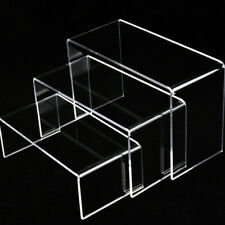 Clear Acrylic Riser Stand Shelf Window Counter Display Jewelry Gifts Showcase