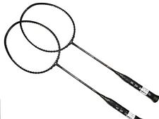 2x Apacs Nano Fusion Speed 722 (Black) Badminton Racket FREE String & Grip