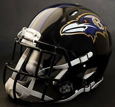 BALTIMORE RAVENS NFL Authentic GAMEDAY Football Helmet w/S2EG-SW-SP Facemask