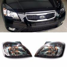OEM Genuine Parts Black Chrome Headlight Lamp For KIA 2006 - 2011 Rio / Pride