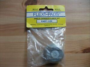 Angle Grinder Flange Set M14 x 2 (17mm Flats)  Flexi-pads Easy-Lok Ref 28005
