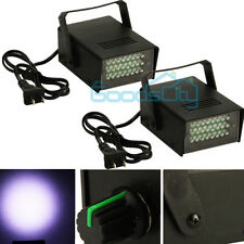 2 Mini DJ Strobe Light Flash Light Disco Club Party Stage Effect Lighting 24 LED