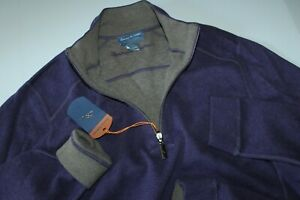 Tommy Bahama Sweater Half Zip Flip Side Reversible Grape Purple New Medium M
