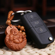 Lucky Buddha Auto Car Key Chain Ring Decals Pendant Beautiful Ornament Keyring