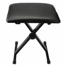 Adjustable Piano Bench Stool Folding Seat Black