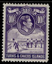 More details for turks & caicos islands gvi sg205, 10s bright violet, m mint. cat £32.