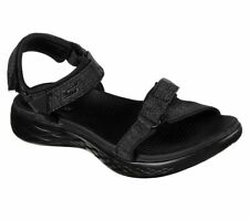 Skechers O-T-G Womens Sandals ON-THE-GO 600 RADIANT Sandalen Damen Schuh Schwarz