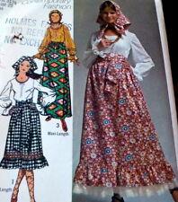 *LOVELY VTG 1970s BLOUSE, SKIRT, SCARF, & SASH Sewing Pattern 8/31.5