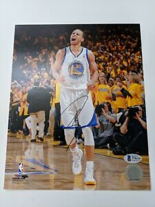 Stephen Curry Signed Autographed GS Warriors 8x10 Photo Steph Beckett BAS