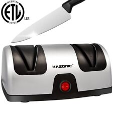Electric Knife Sharpener, Kasonic 2-Stage 100% Diamond Coated Sharpening System