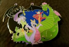 Disney Inspired Fantasy pins dragon's madame mim, figment, Elliott,  maleficent