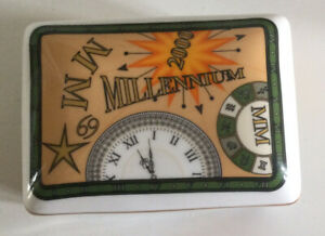 Commemorative Millenium Collection Oblong Trinket Box. Sutherland Bone China