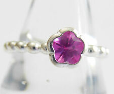 Sterling Silver Ring Size 8.5 by Hans Henrik Nygaard Pink Crystal
